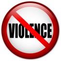 No Violence pin